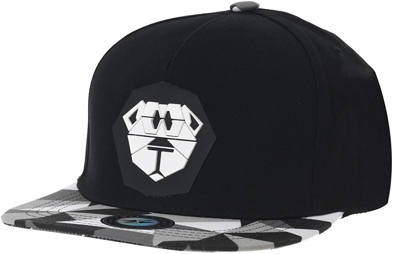 WITHMOONS Snapback Hat Lion Paper Fold Patch Geometry Pattern Flat Brim Cotton Baseball Cap TR2938