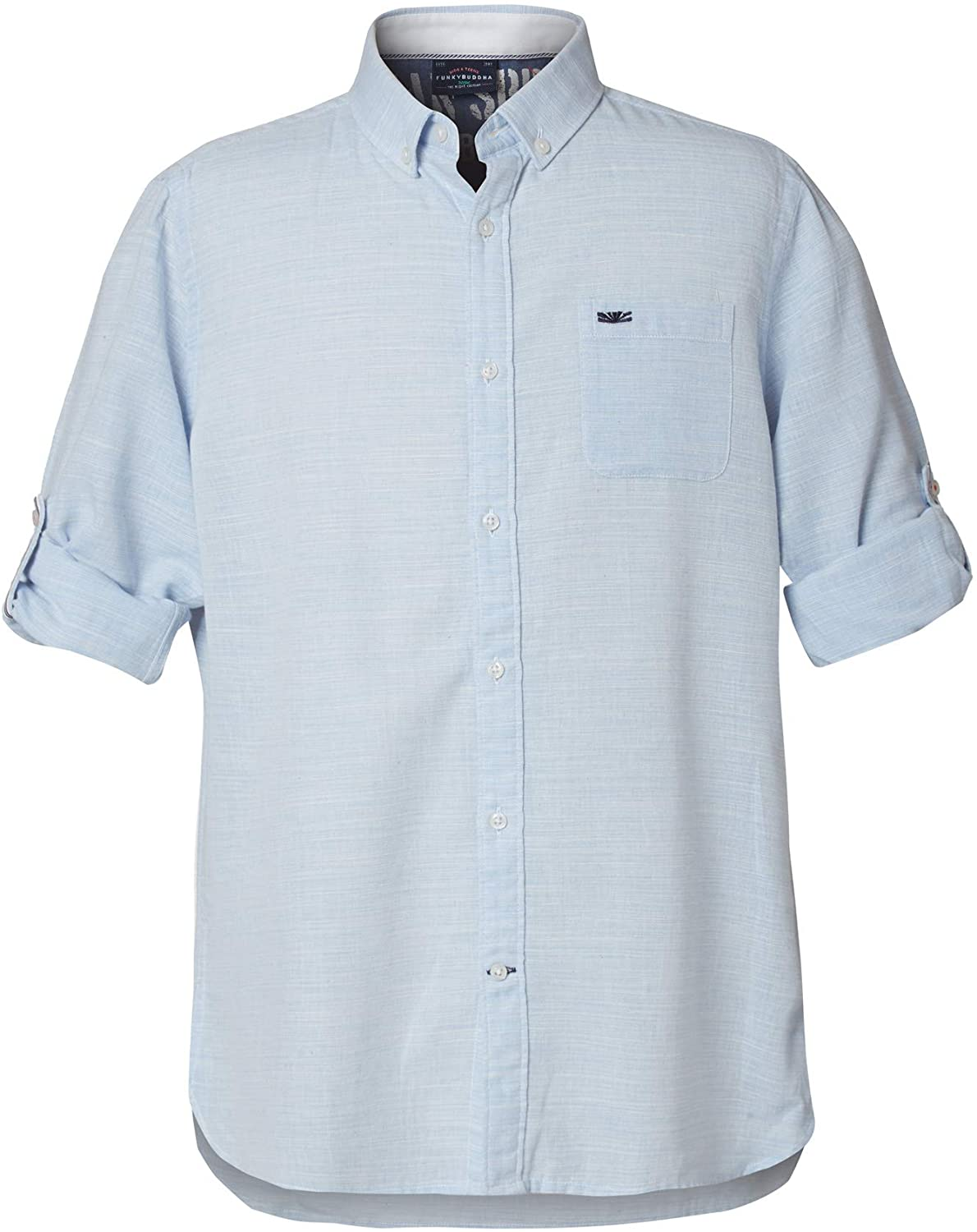 FUNKY BUDDHA Casual Shirt in Plain Pattern