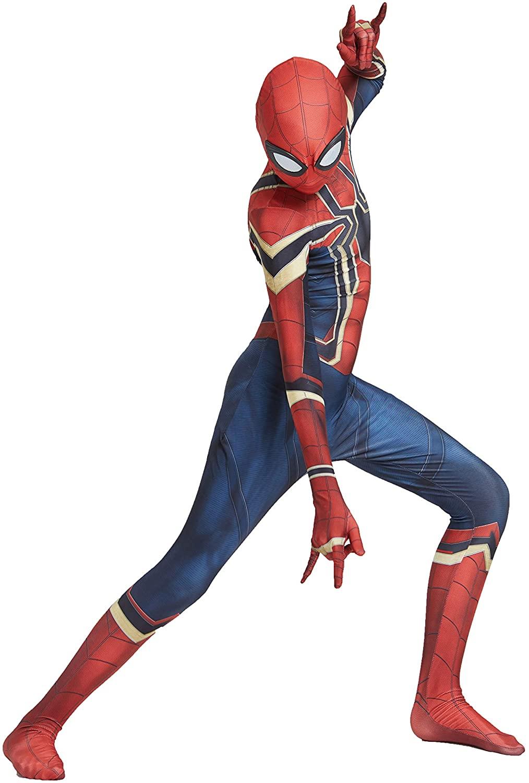 Earu Unisex Iron Spiderman Costume Lycra Superhero Spiderman Suits Halloween Cosplay Bodysuit