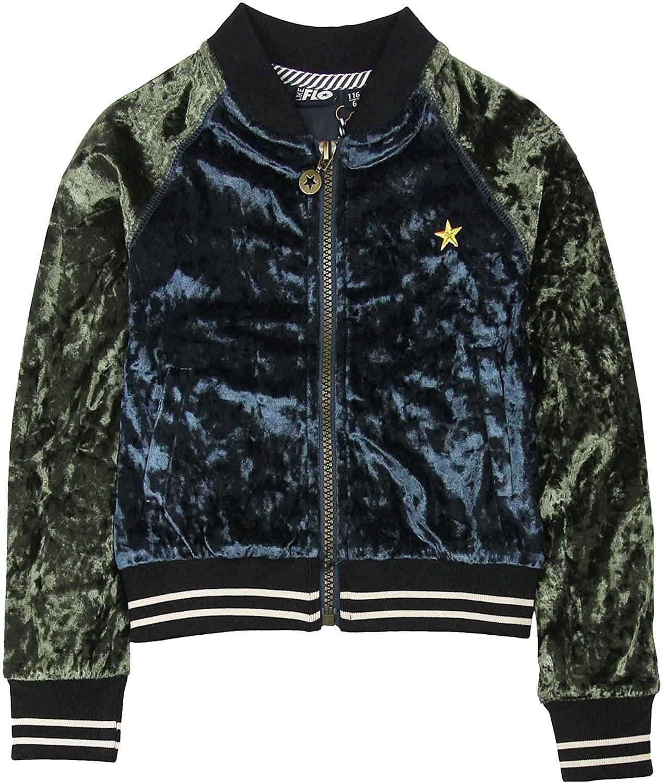 Dress Like Flo Girl's Crushed Velvet Bomber Jacket, Sizes 6-14