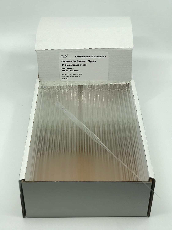 Chem Science INC 123.203.02 Disposable Borosilicate Glass Pasteur Pipette, 9