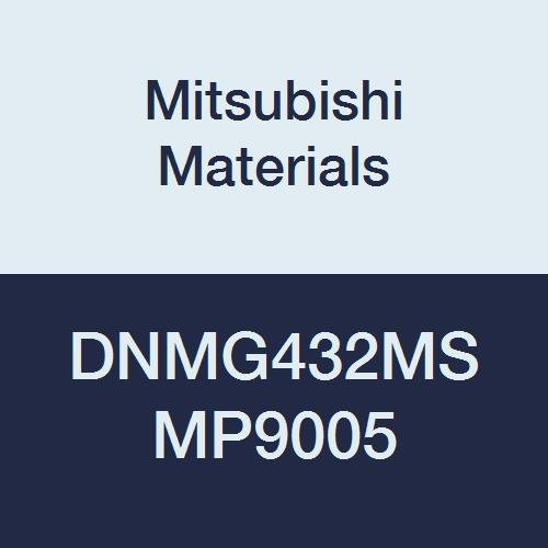 Mitsubishi Materials DNMG432MS MP9005 Coated Carbide DN Type Negative Turning Insert with Hole, Stable Cutting, Rhombic 55°, 0.5
