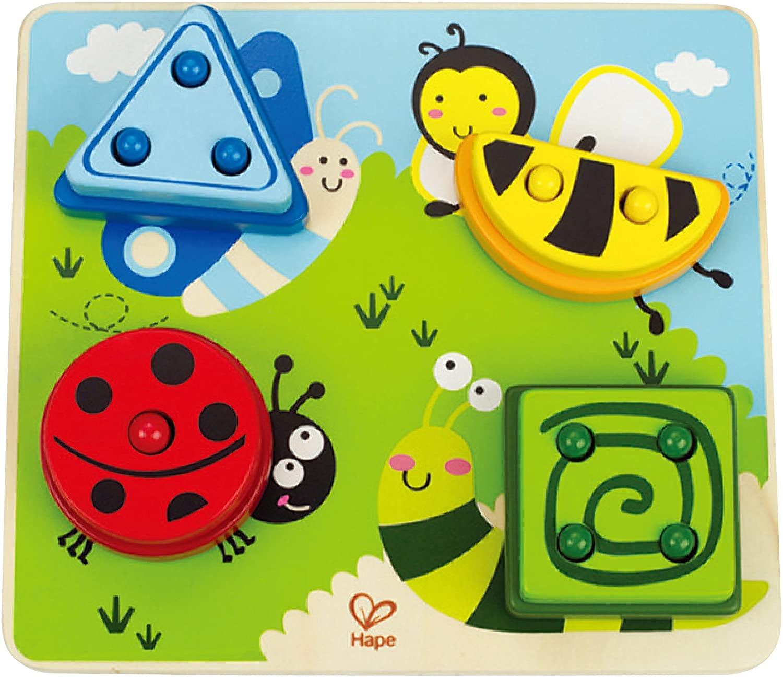 Award Winning Hape Build-A-Bug Wooden Toddler Sorter Learning Puzzle
