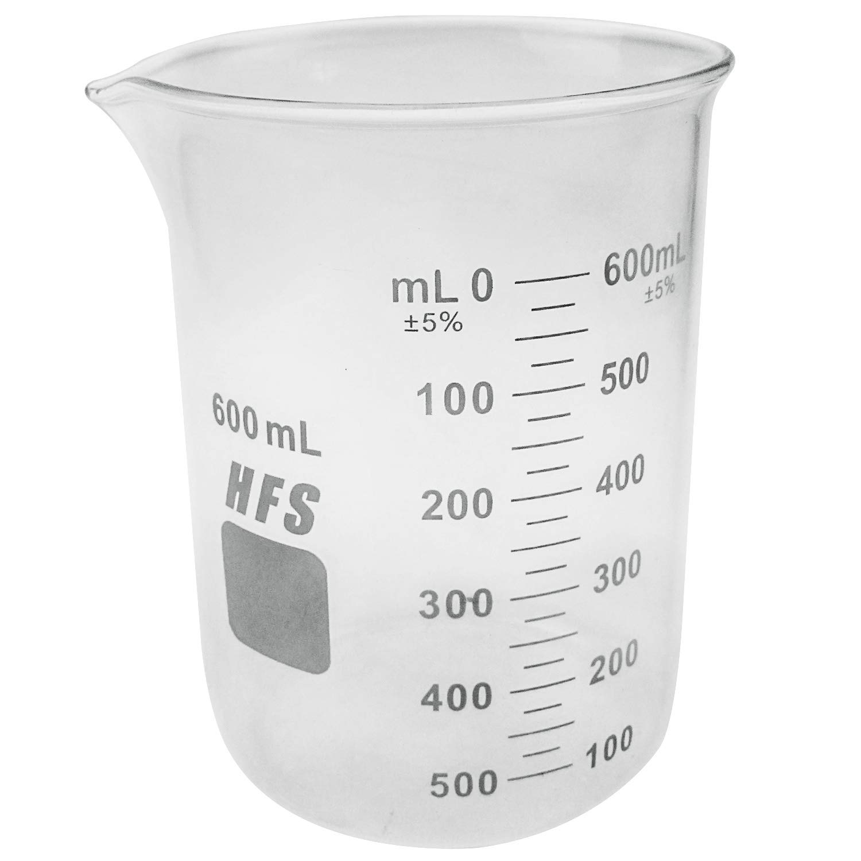 HFS(R) Graduation Glass Beaker with Spout (600ML)
