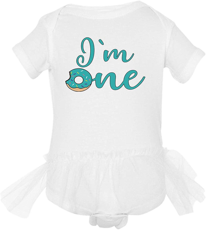 Awkward Styles 1st Birthday Shirt Im One Baby Girl Dress Bday Tutu Skirt Set Cute Donut Outfit
