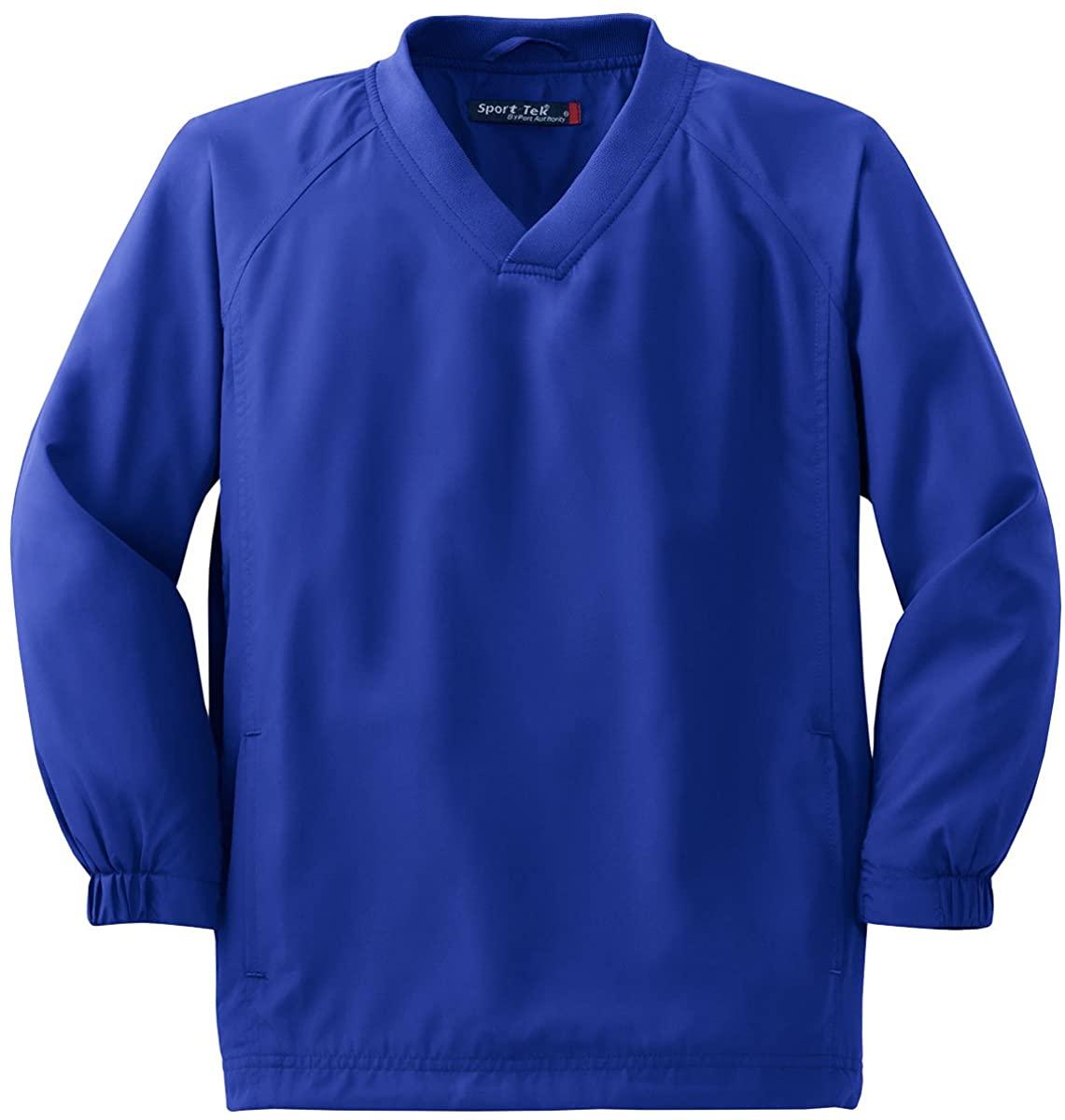 Sport-Tek Boys' V Neck Raglan Wind Shirt L True Royal