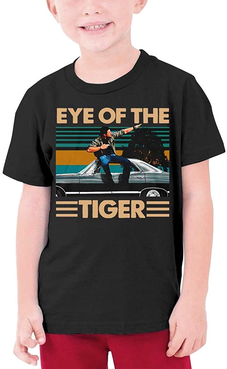 Dean Winchester Supernatural Eye of The Tiger Boys Girls Short Sleeve T-Shirt