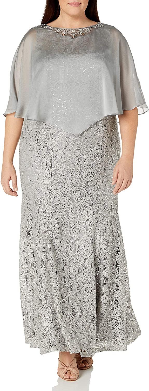 Ignite Women's Sequin Beaded Lace Dress