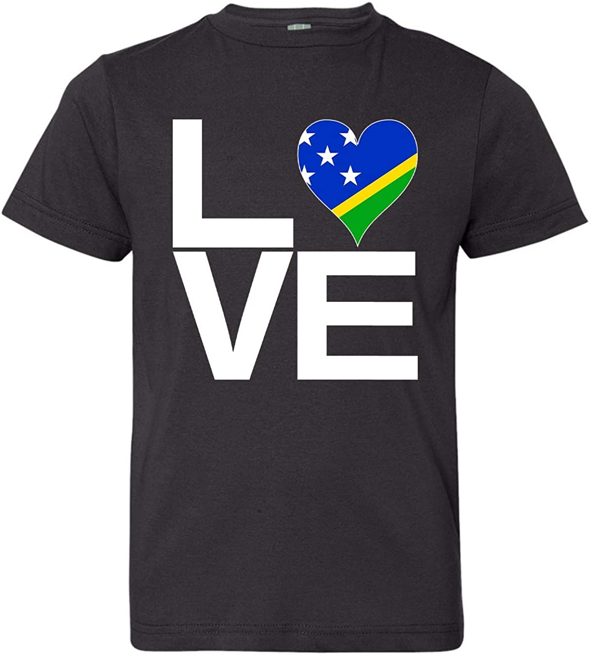Tenacitee Girl's Youth Love Block Solomon Islands Heart T-Shirt