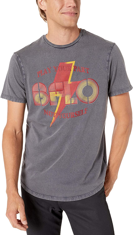 Buffalo David Bitton Men's Short Sleeve Single Garment Dyed & Acid Wash Jersey