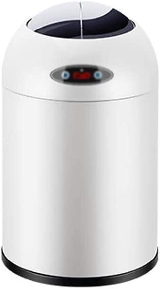Trash Can Bin Smart Non-Contact Trash, Indoor Automatic Trash Can with Motion Sensor Cover, Built-in Dirt Vacuum Cleaner for Kitchen, Bedroom, Office, Commercial Use (Size : XS)