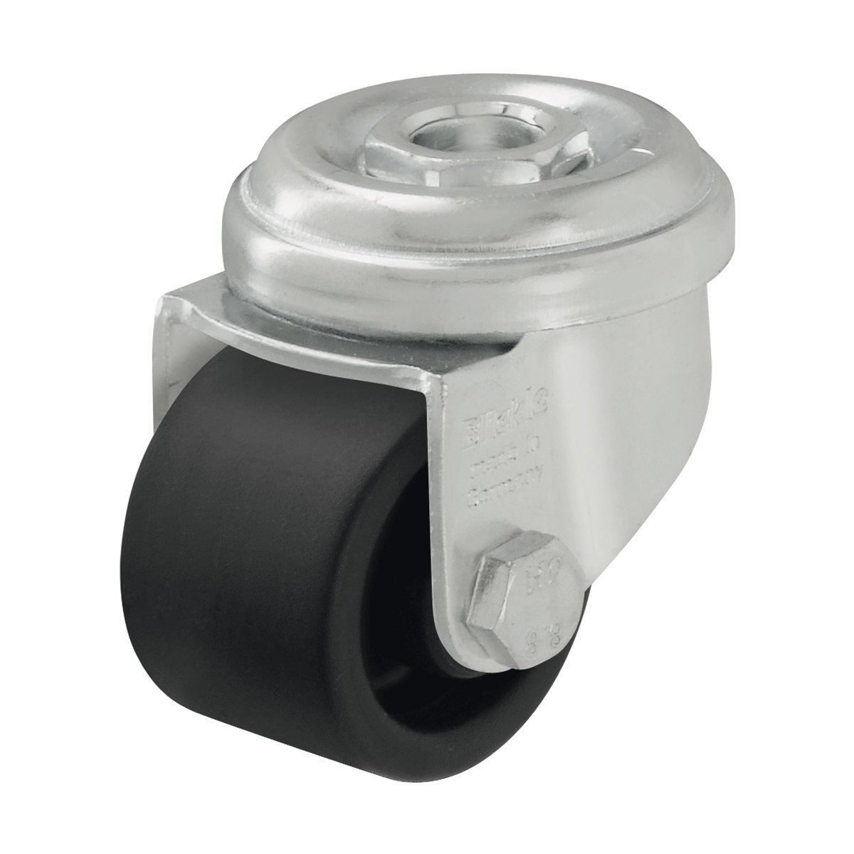 J.W. Winco 750GBB2 Caster, Swivel Bracket: Zinc Plated Steel Stamping, with Bolt Hole Mounting or Threaded Stem Mounting