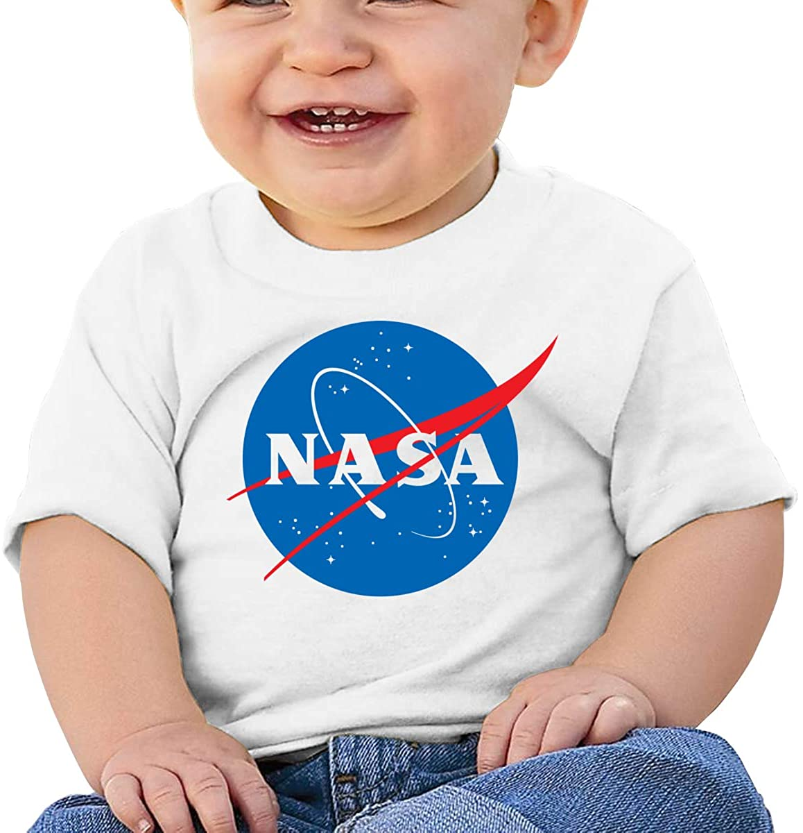 Gbyuhjbujhhjnuj Baby T-Shirt Cute Infant Home NASA Graphic Toddler T Boys and Girls Soft Short Sleeve Cotton Kids Shirt
