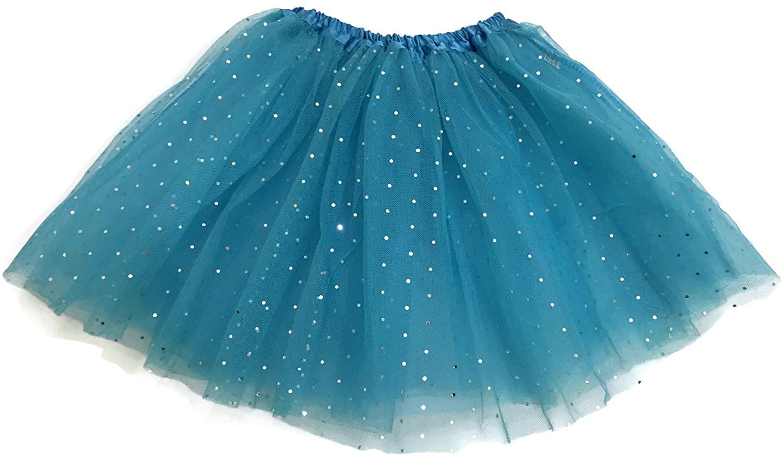 Rush Dance Ballerina Girls Dress-Up Princess Fairy Costume Recital Tutu (Kids 3-8 Years, Sparkle Sequins (Frozen))