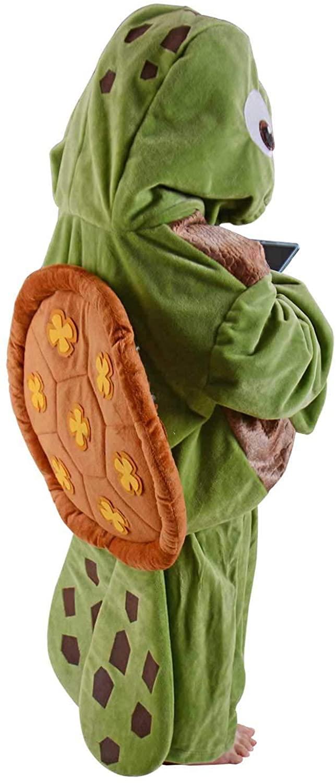 Turtle Costume Kids Sea Animal Cosplay Halloween Fancy Dress Ocean Chelonia Mydas Party Outfit (S)