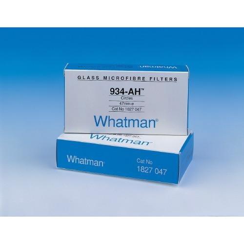 Whatman 1827-070 Glass Microfiber Binder Free Filter, 1.5 Micron, 3.7 s/100mL Flow Rate, Grade 934-AH, 7.0cm Diameter (Pack of 100)