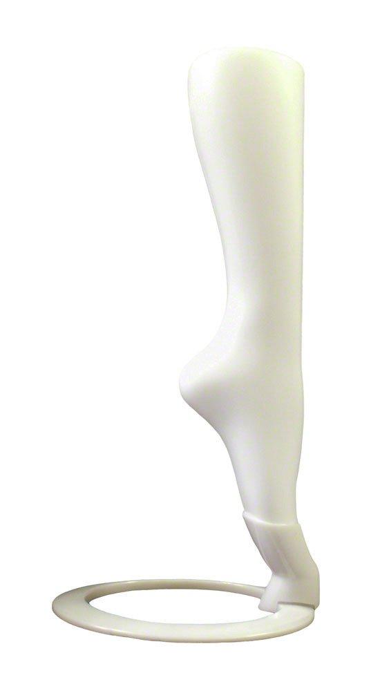 Female Hosiery Calf Form w/ stand, White