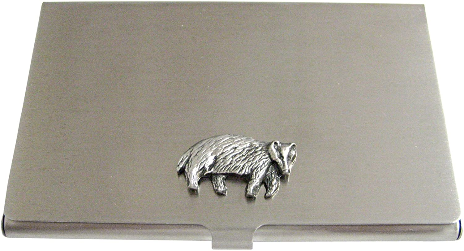 Textured Badger Business Card Holder