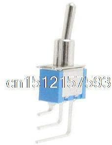 Screw 4 x AC 250V 3A 120V 6A SPDT ON/ON 2 Way Right Angle Solder PCB Toggle Switch