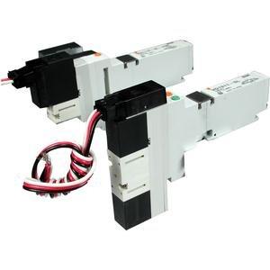 SMC VQ1411-5LO valve - vq1000/vq20/vq30 valve family vq1000 no size rating - valve, 3 pos. non plug-in (dc)