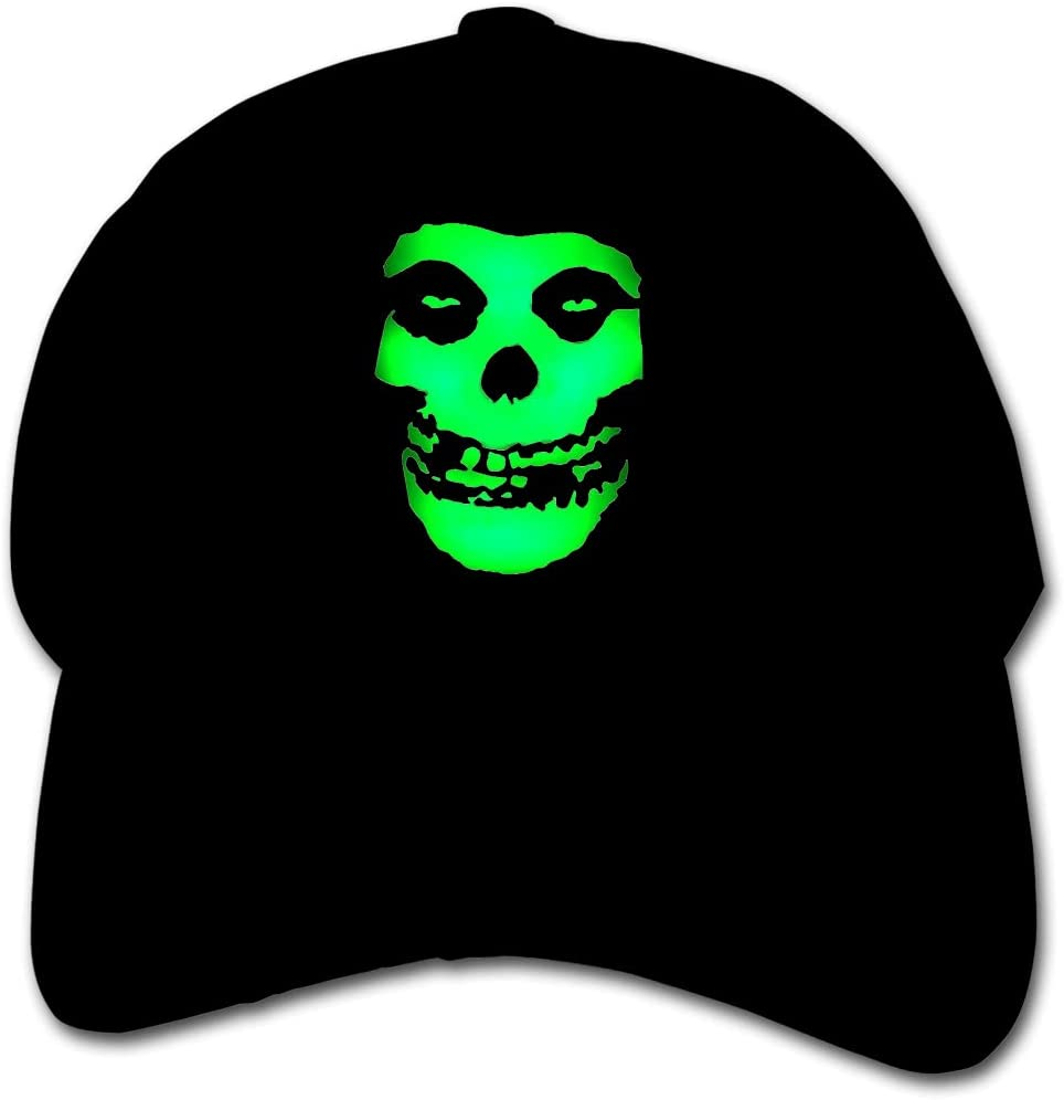 Wedday The Misfits Graphic Children Toddler Kids Polyester Plain Adjustable Low Profile Peaked Cap Hat