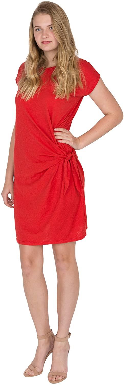 Velvet by Graham & Spencer Women's Cotton Slub Knot Side Tee Dress