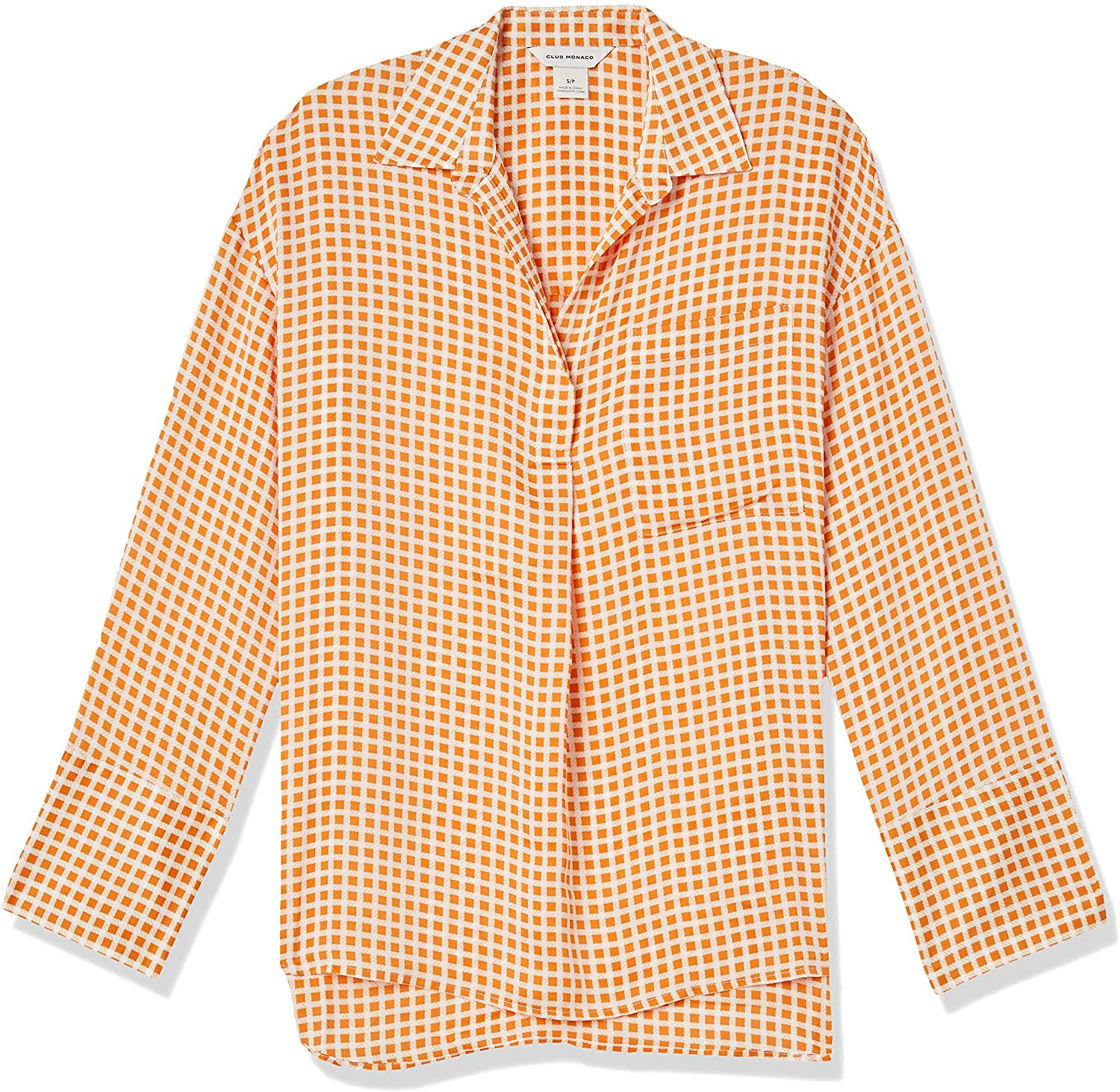 Club Monaco Women's Popover Pocket Shirt