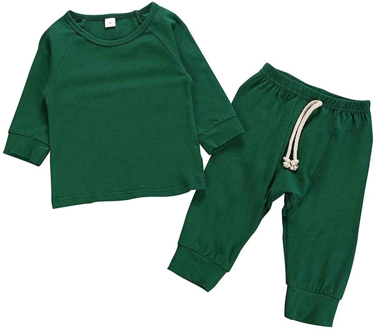 Noubeau Baby Boys Girls Button Sweaters Romper Bodysuit Knitting Pants Set Autumn Winter Warm
