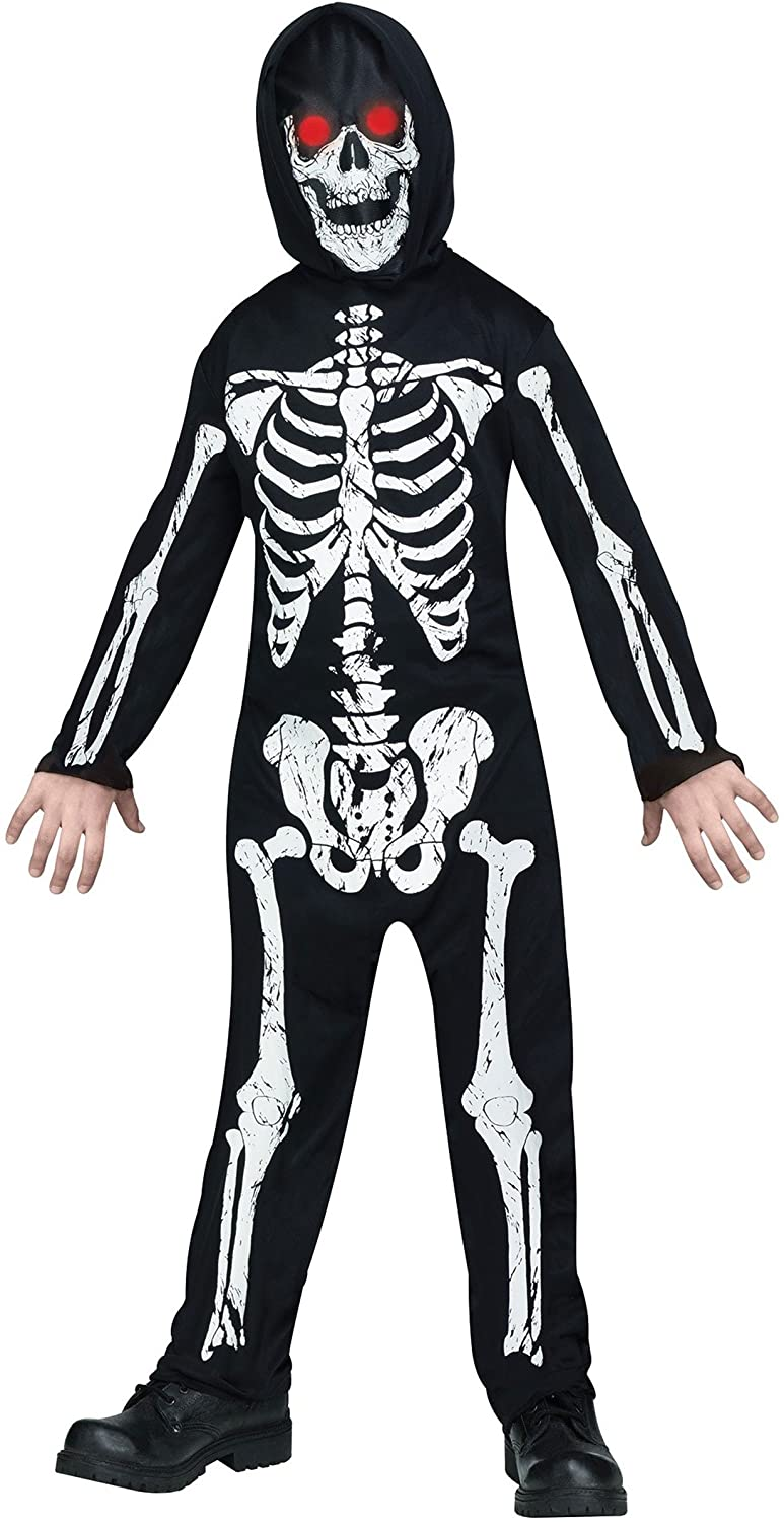 Fade in and Out Skeleton Phantom Costume for Kids