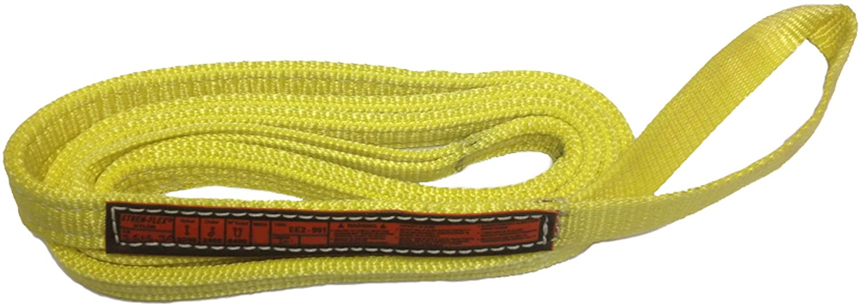 Stren-Flex EET4-901-4 Type 4 Heavy Duty Nylon Twisted Eye and Eye Web Sling, 4 Ply, 6100 lbs Vertical Load Capacity, 4' Length x 1