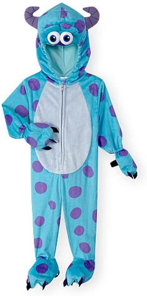 Disney Boys Blue/Purple Monsters, Inc. Sulley Halloween Costume- 2T