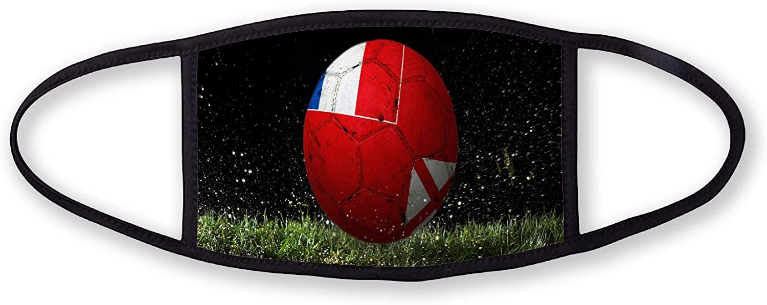 3-Layer reusable/washable Facemask - Flag of Wallis & Futuna - Soccer Design