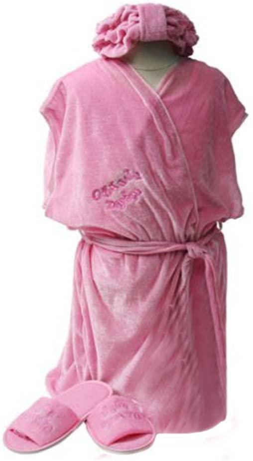 Girls Day Spa Value Birthday Party Favor Robe, Headband & Size XL Slippers