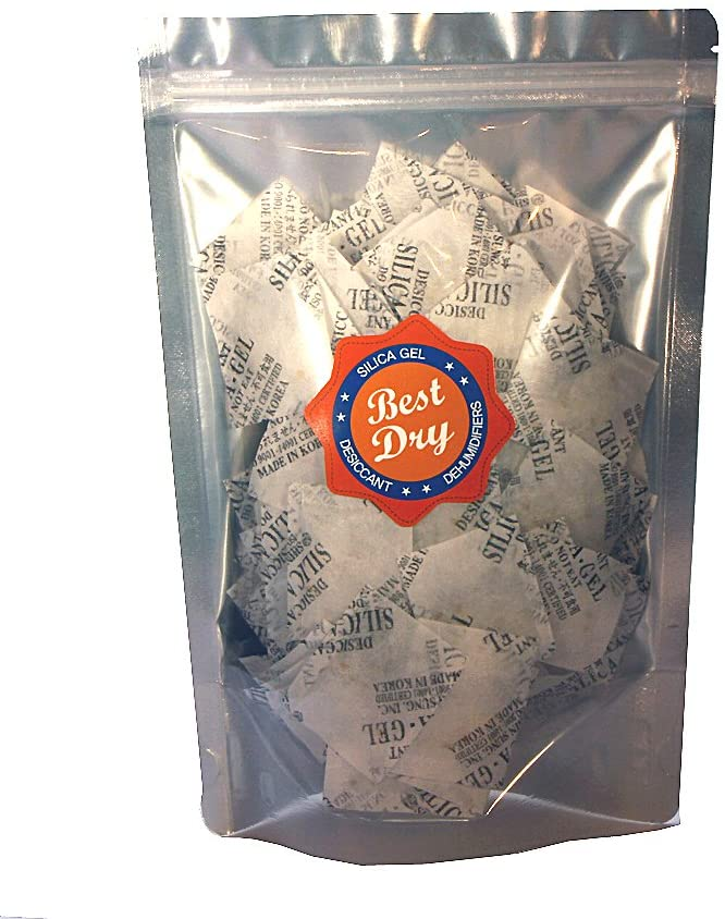 Best Dry Silica Gel Packets Desiccant Dehumidifiers 2 Gram Pack Packaging May Vary (100 Pack)