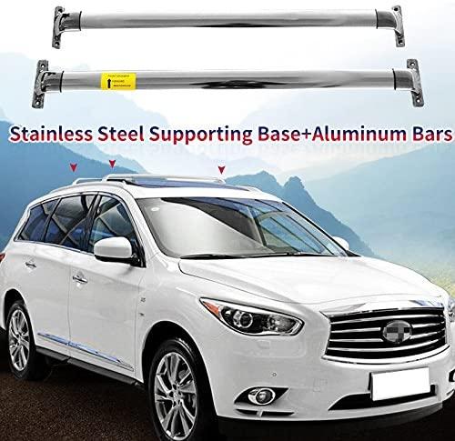 HEKA Cross Bar fit for Infiniti JX35 QX60 2013-2018 Crossbar Roof Rail Rack Stainless Steel