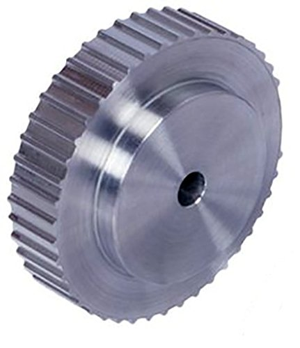 Ametric 3M48X9 Aluminum HTD Timing Pulley no Flange, 3 mm Pitch, 48 Teeth, for 9 mm wide belt, 8 mm +/-1mm Pilot Bore, 45.84 mm Pitch Dia., 45.08 mm OD, 33 mm Hub Dia., 13.4 mm Face Width, 22.2 mm Overall Width, 6/A , (1-080)