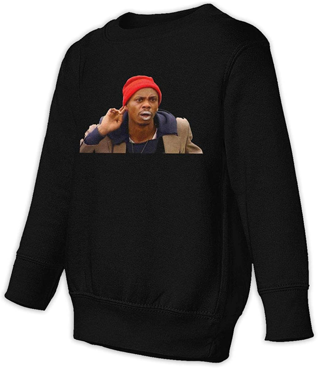 POPLNMUSM-hosvuns Dave Chappelle - Tyrone Biggums Unisex Sweatshirt Youth Boy and Girls Pullover Sweatshirt Black