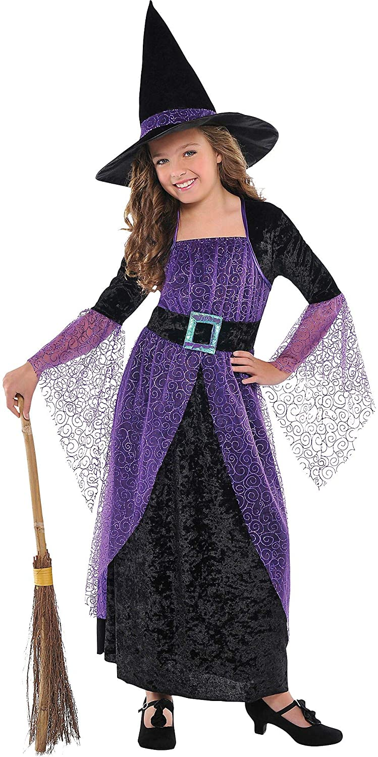 AMSCAN Pretty Potion Witch Halloween Costume for Girls, Small, with Included Accessories