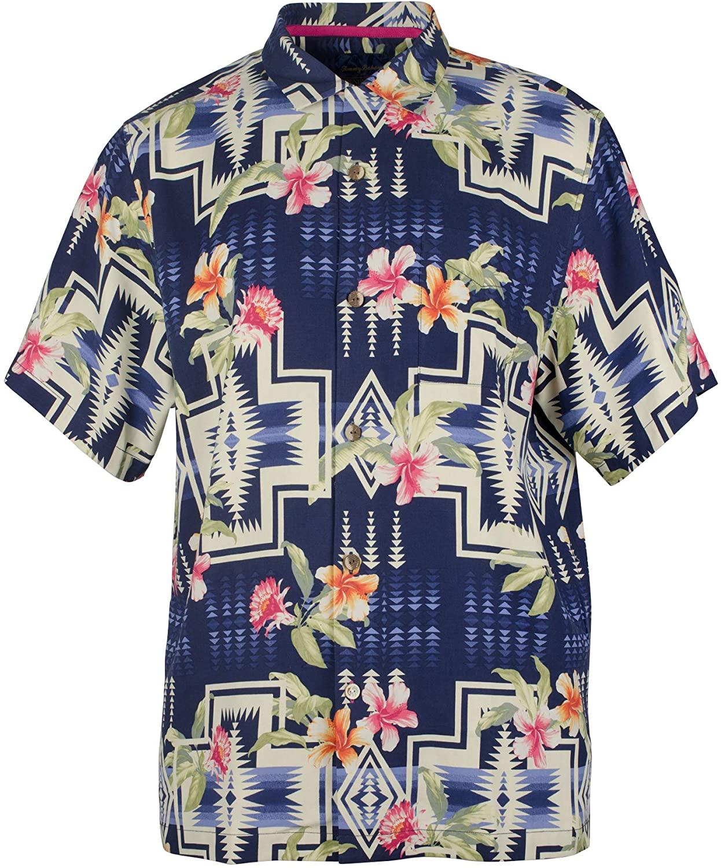 Tommy Bahama Pendleton Aloha Harding Silk Camp Shirt