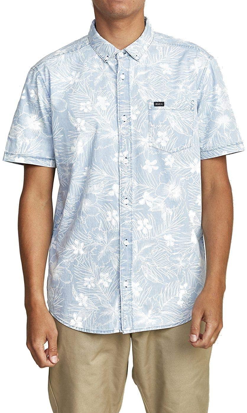 RVCA Men's Dead Flag Floral Ii Short Sleeve Shirt