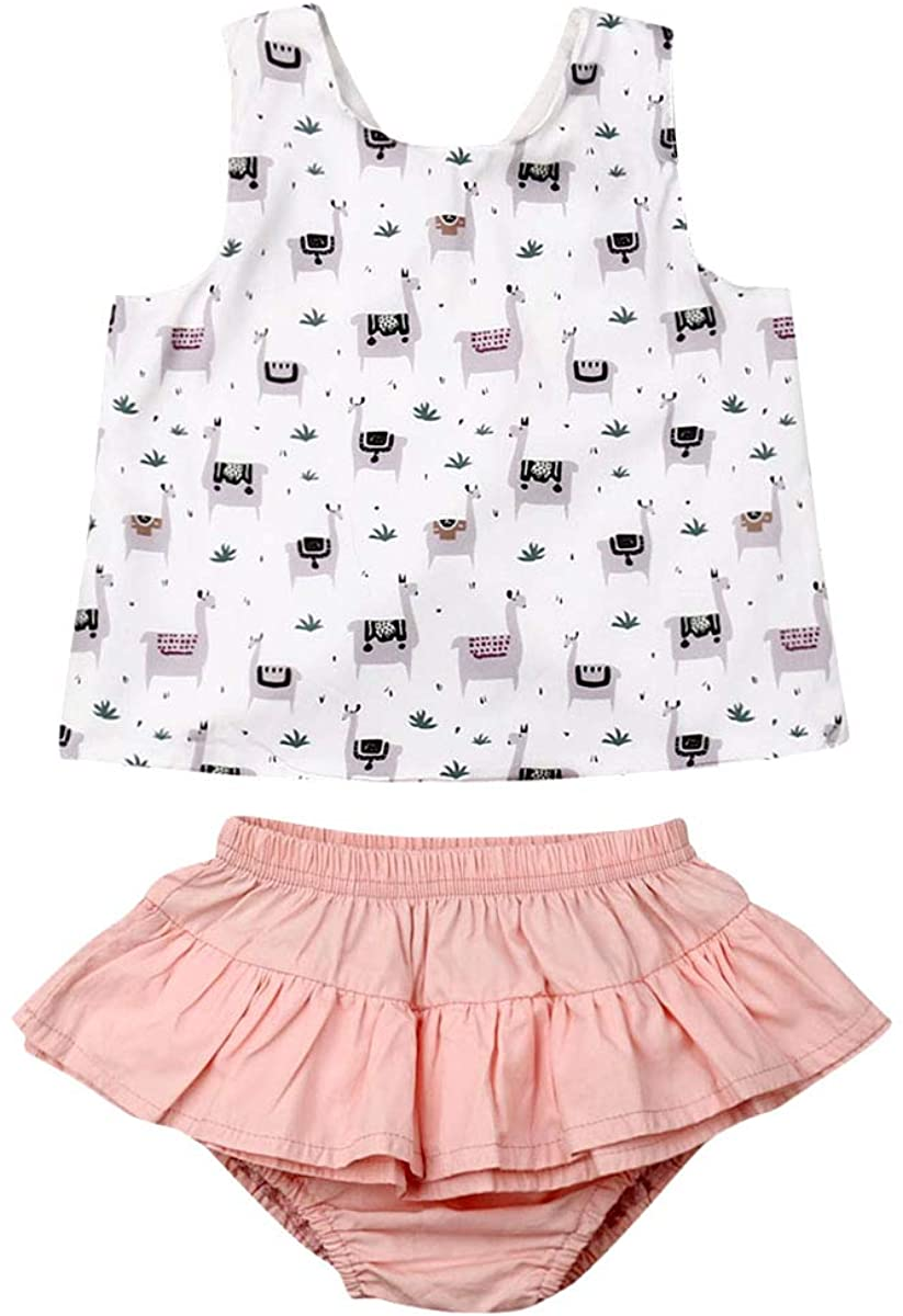 Infant Baby Girl PP Short Set Short Sleeve/Sleeveless Floral Print Tops+ Triangle Shorts 2Pcs/3Pcs Summer Outfits