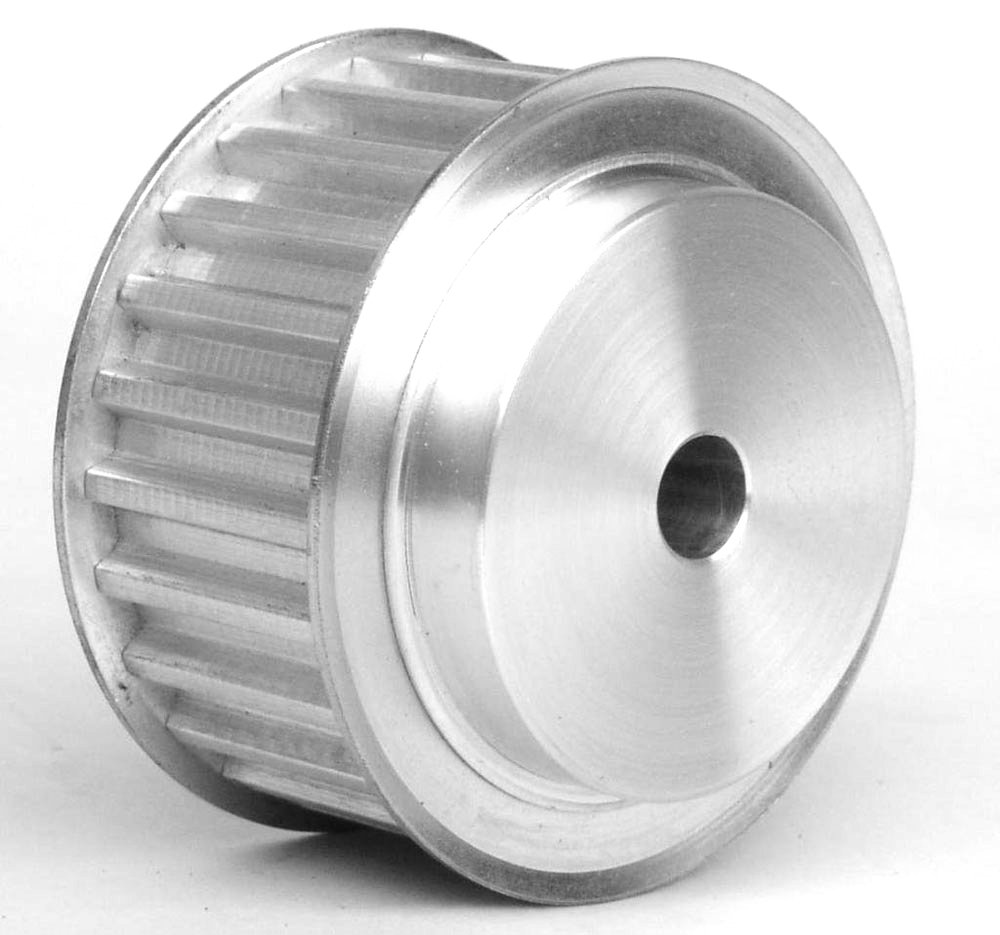 40AT10/28 2 Ametric Metric Pitch Aluminum Timing Pulley, at 10mm Pitch, for a 25mm Wide Belt, 28 Teeth, 87.25 mm Outside Diameter, (Mfg Code 1-017)