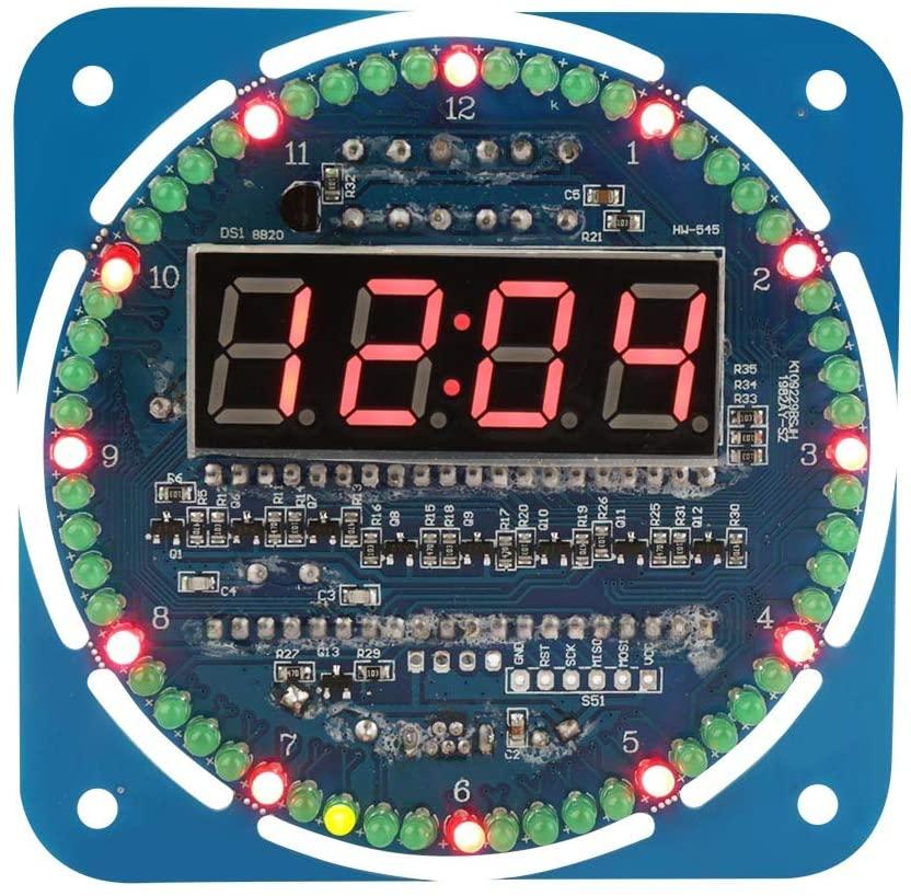 DIY Clock Set - DIY DS1302 LED Light Digital Electronic Clock Set 51 MCU Learning Starter Kit