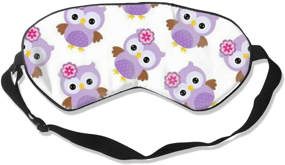 Sleep Eye Mask For Men Women,Cute Owl Soft Comfort Eye Shade Cover For Sleeping