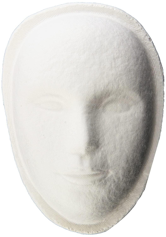 School Specialty Decorative Papier-Mache Art Mask, 8 X 6 X 3 in, White - 464381