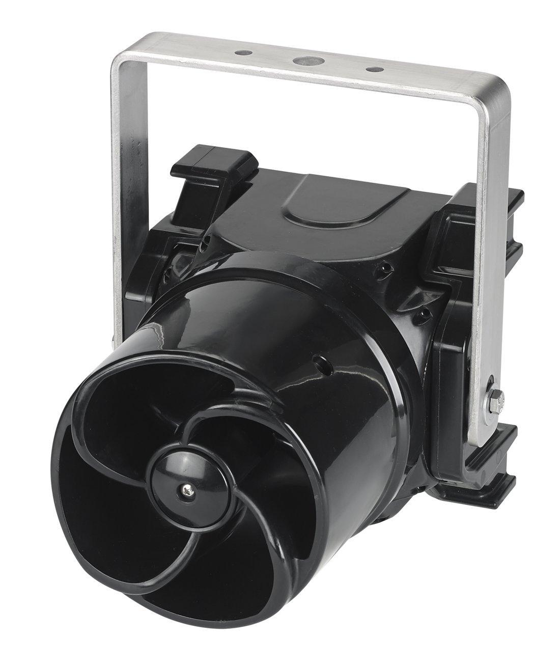 Federal Signal G-SND-MV-T Global Series Sounder, Multi-Tone, Multi-Voltage, U-Bracket Mount, Black