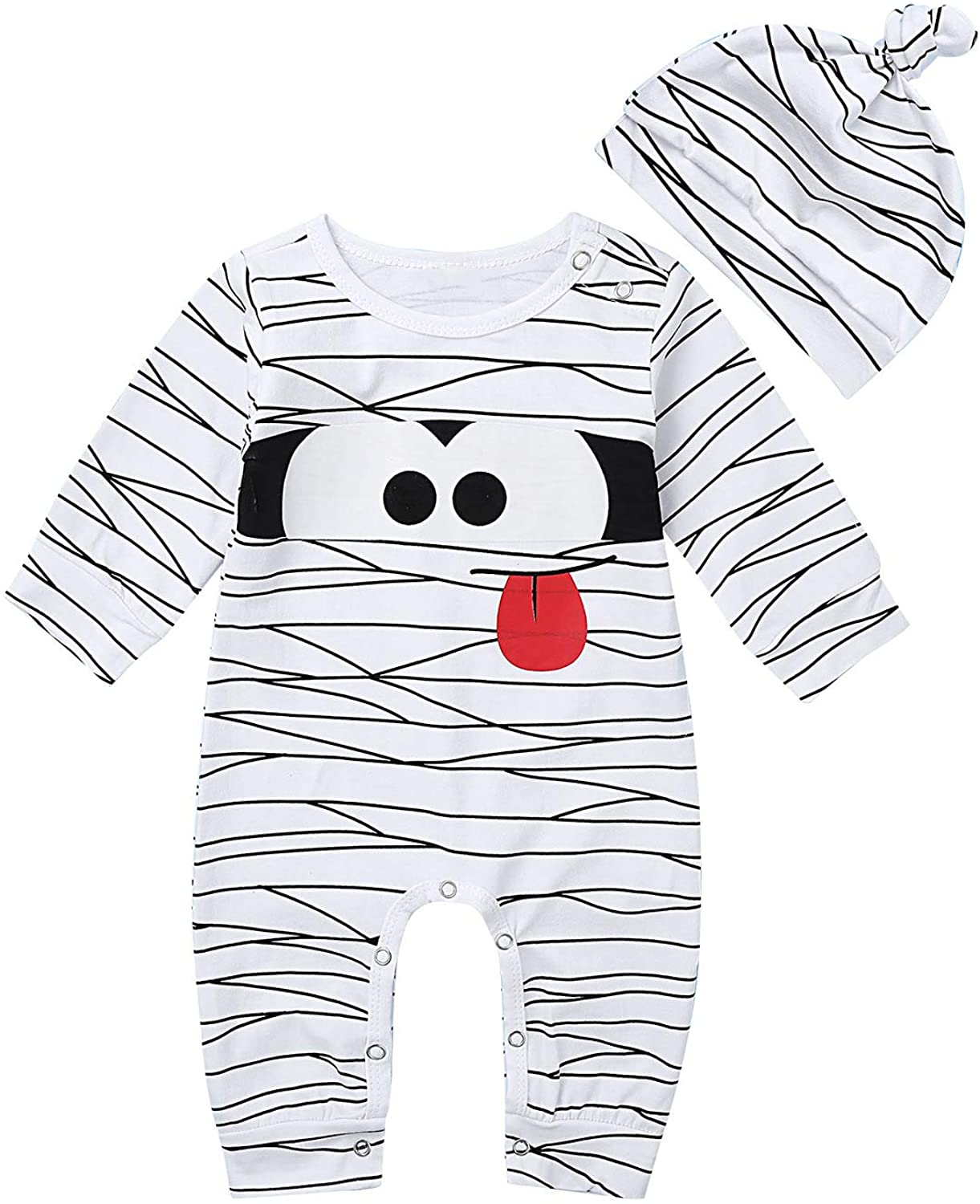 Agoky Infant Baby Girls Boys My 1st Halloween Pumpkin Costumes Romper Outfit Fancy Dress Theme Party Cosplay