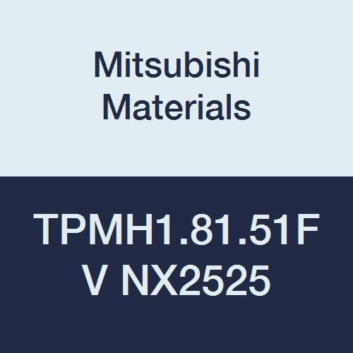 Mitsubishi Materials TPMH1.81.51FV NX2525 Uncoated Cermet TP Type Turning Insert with Hole, Triangular, Grade NX2525, 0.219