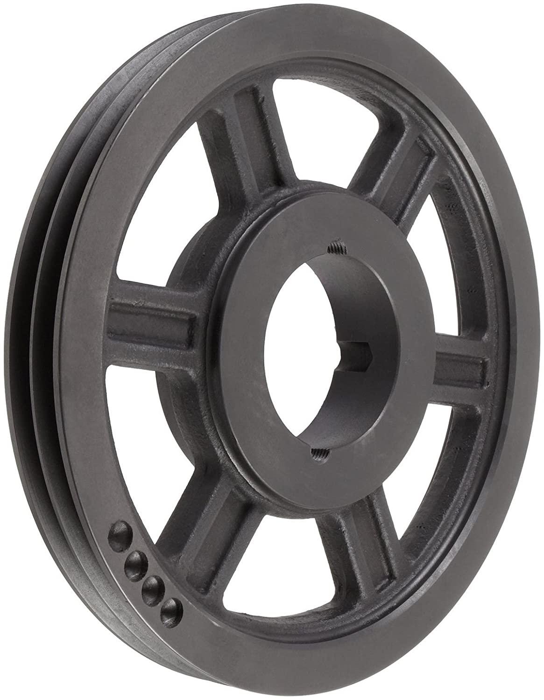 TL SPB150X2.1610 Ametric Metric 150 mm Outside Diameter, 2 Groove SPB/17 Dynamically Balanced Cast Iron V-Belt Pulley/Sheave,for 1610 Taper Lock Bushing, (Mfg Code 1-013)