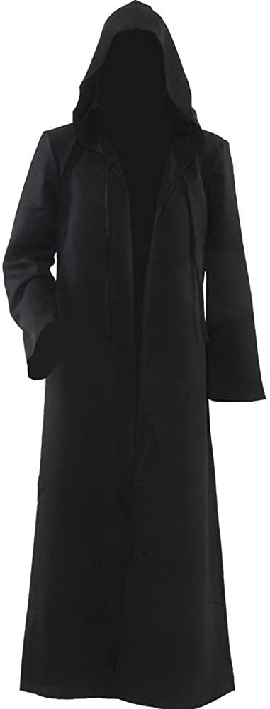 Cosplaysky Men Tunic Hooded Knight Halloween Cloak for Jedi Robe Costume